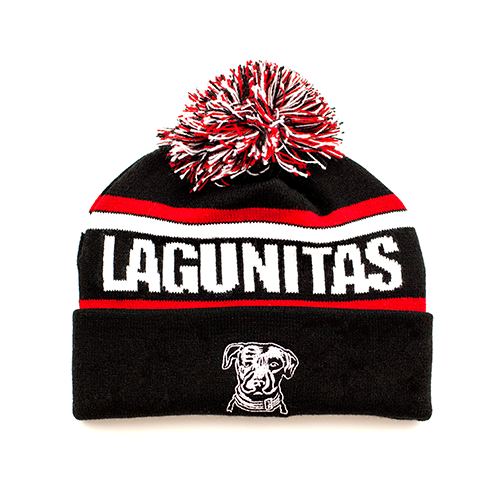 Lagunitas Fold-Up Beanie with Pom
